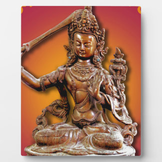 Ornate Buddhist Diety Manjushri Plaque