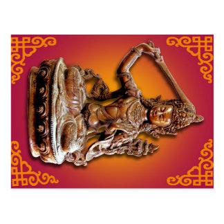 Ornate Buddhist Diety Manjushri Postcard