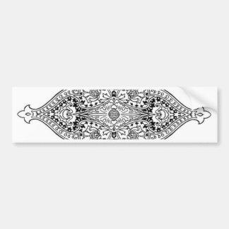Ornate Bumper Sticker