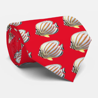 Ornate butterflyfish tie