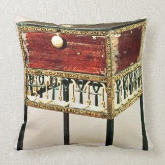 Ornate cabinet from the Treasure of Tutankhamun Throw Pillows