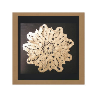 Ornate Canvas Art Old Fashioned Doily Lace