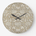 Ornate Carved Marble Wall Clock