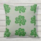 Ornate Celtic Shamrock Throw Pillow