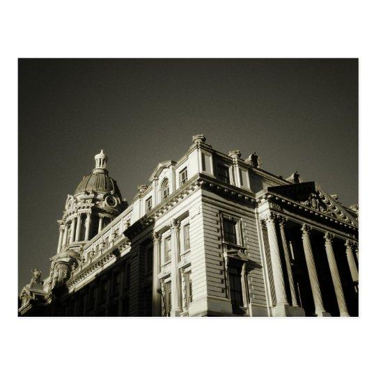 Ornate Centre Street Building Postcard