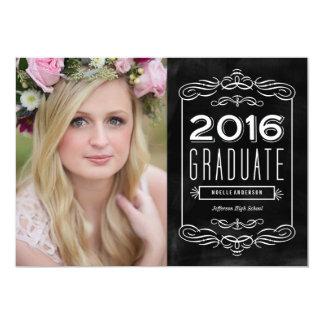 Ornate Chalkboard Graduation Announcement