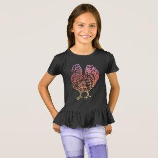 Ornate Chicken Lineart T-Shirt