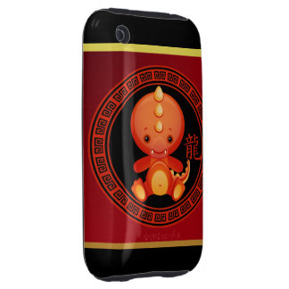 Ornate Chinese Year of the Dragon 2012 Tough iPhone 3 Cover