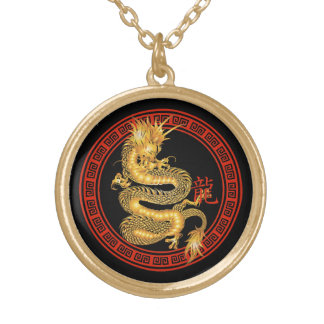 Ornate Chinese Year of the Dragon Necklace