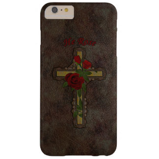 ORNATE CHRISTIAN CROSS WITH FLOWERS BARELY THERE iPhone 6 PLUS CASE