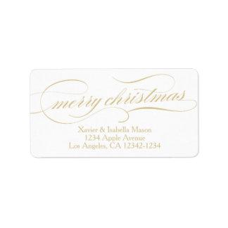 Ornate Christmas | Large Return Address Label