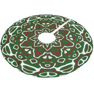 Ornate Christmas Pattern 2 Brushed Polyester Tree Skirt
