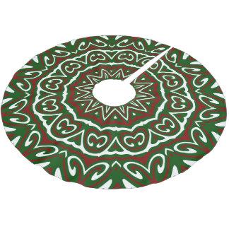 Ornate Christmas Pattern 3 Brushed Polyester Tree Skirt