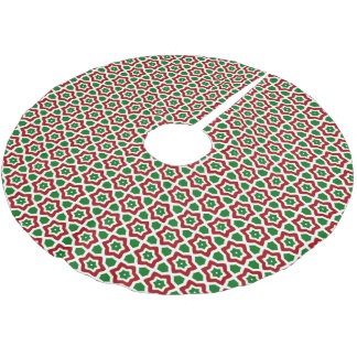 Ornate Christmas Pattern Brushed Polyester Tree Skirt