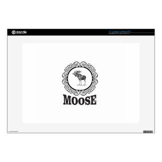 ornate circle moose laptop skin