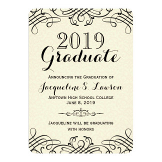 Ornate Classic Formal Graduation Announcement