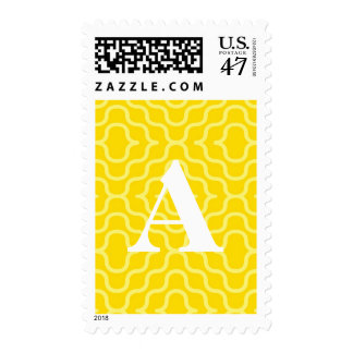 Ornate Contemporary Monogram - Letter A Postage Stamp