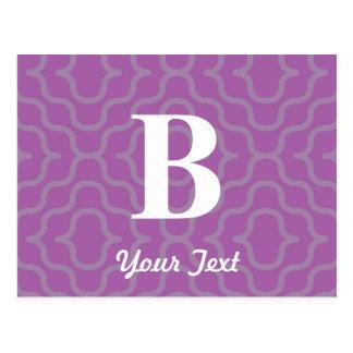 Ornate Contemporary Monogram - Letter B Postcard
