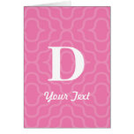 Ornate Contemporary Monogram - Letter D Greeting Card