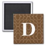 Ornate Contemporary Monogram - Letter D Refrigerator Magnet