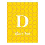 Ornate Contemporary Monogram - Letter D Postcard