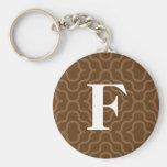 Ornate Contemporary Monogram - Letter F Key Chain