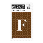 Ornate Contemporary Monogram - Letter F Postage Stamps