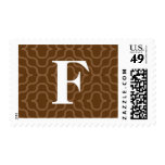 Ornate Contemporary Monogram - Letter F Stamps