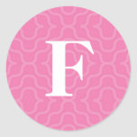 Ornate Contemporary Monogram - Letter F Sticker