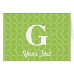 Ornate Contemporary Monogram - Letter G Greeting Card