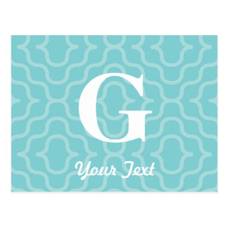 Ornate Contemporary Monogram - Letter G Postcard