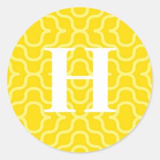 Ornate Contemporary Monogram - Letter H Stickers