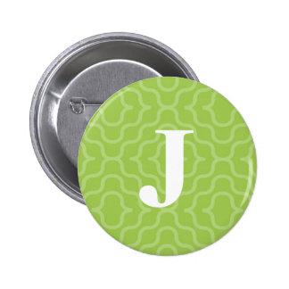 Ornate Contemporary Monogram - Letter J 2 Inch Round Button