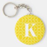Ornate Contemporary Monogram - Letter K Key Chains