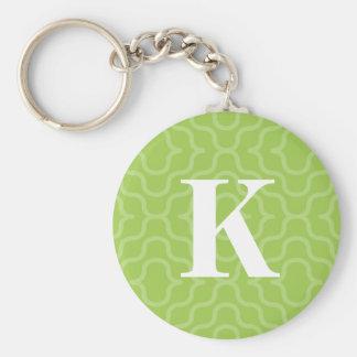Ornate Contemporary Monogram - Letter K Keychain