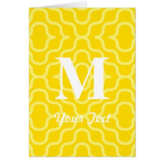 Ornate Contemporary Monogram - Letter M Card