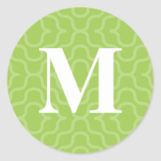 Ornate Contemporary Monogram - Letter M Classic Round Sticker