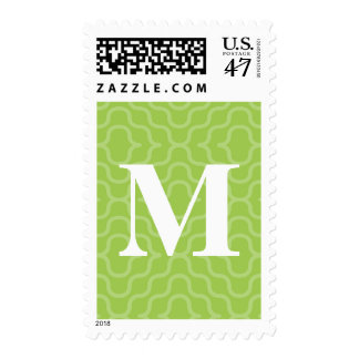 Ornate Contemporary Monogram - Letter M Stamp