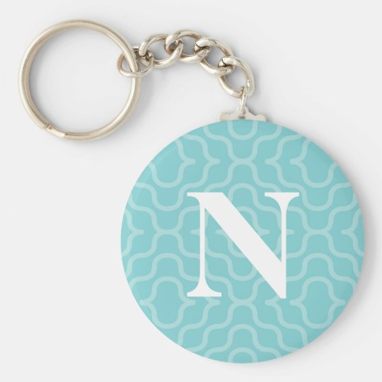 Ornate Contemporary Monogram - Letter N Keychain