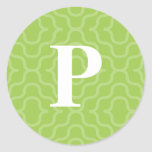 Ornate Contemporary Monogram - Letter P Round Stickers