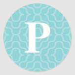 Ornate Contemporary Monogram - Letter P Stickers