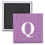 Ornate Contemporary Monogram - Letter Q Fridge Magnets