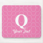 Ornate Contemporary Monogram - Letter Q Mouse Mats