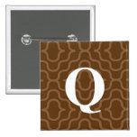 Ornate Contemporary Monogram - Letter Q Pins