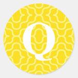 Ornate Contemporary Monogram - Letter Q Sticker