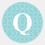 Ornate Contemporary Monogram - Letter Q Stickers