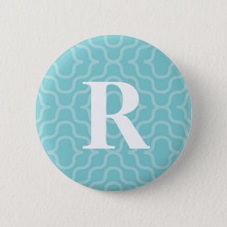 Ornate Contemporary Monogram - Letter R Pinback Button