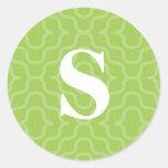 Ornate Contemporary Monogram - Letter S Sticker