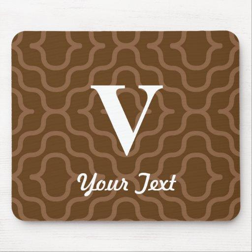 Ornate Contemporary Monogram - Letter V Mouse Pad