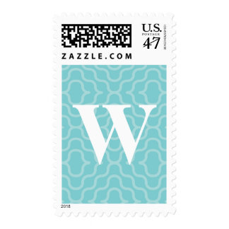 Ornate Contemporary Monogram - Letter W Postage